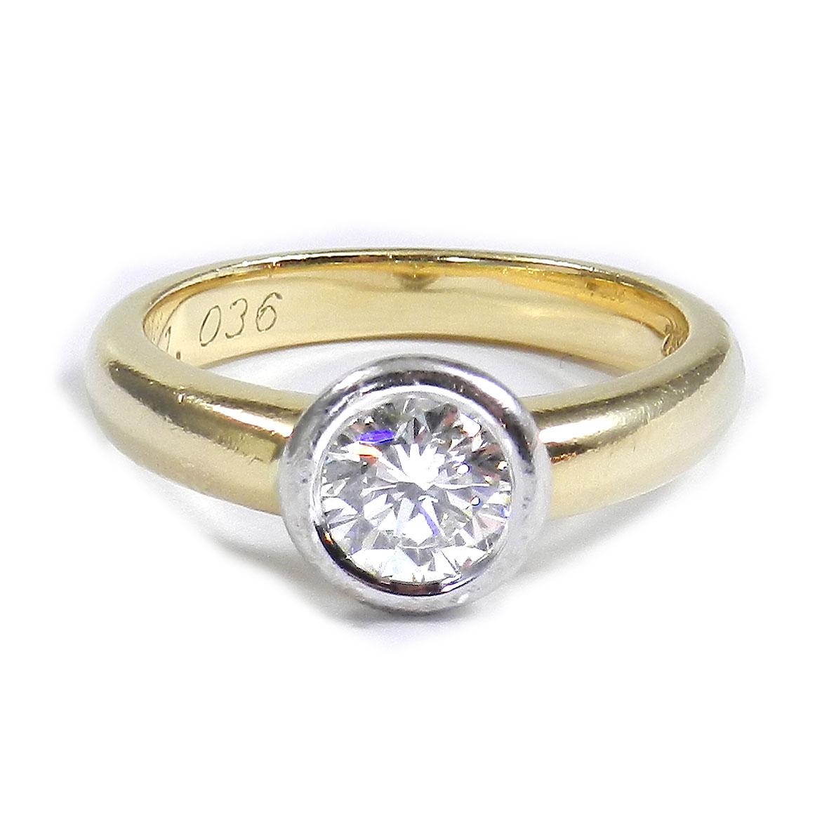 1 ct diamant solit r ring mit lupenreinem brillanten in 750 gold diamond ebay. Black Bedroom Furniture Sets. Home Design Ideas