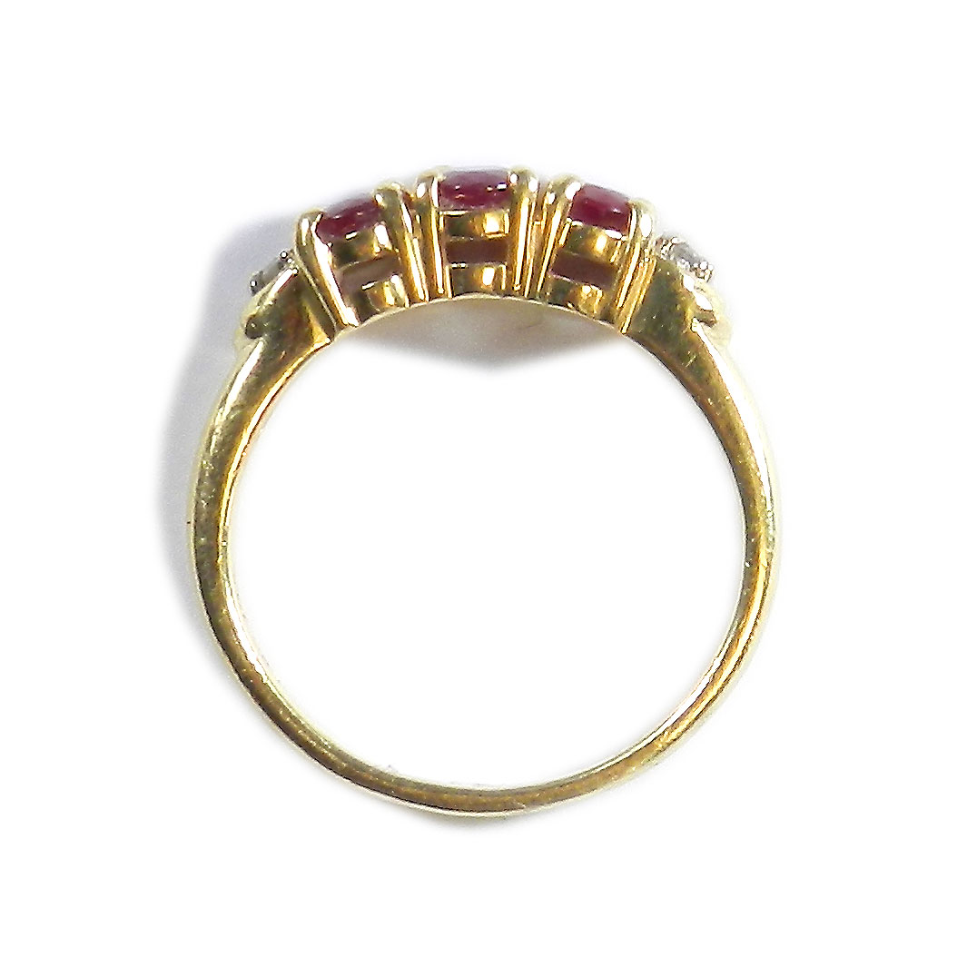 vintage rubin ring 585 gelbgold ring mit rubin diamanten vorsteckring ruby ebay. Black Bedroom Furniture Sets. Home Design Ideas