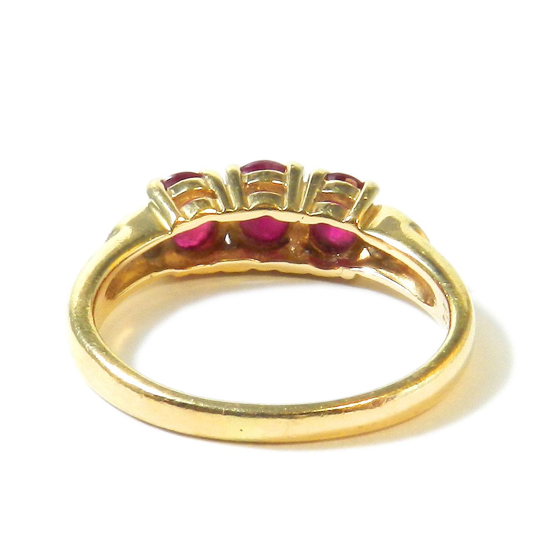 vintage rubin ring 585 gelbgold ring mit rubin diamanten vorsteckring ruby 4053642332967 ebay. Black Bedroom Furniture Sets. Home Design Ideas
